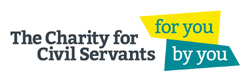 logo for the charity for civil servants and link to website
