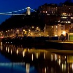 Bristol skyline at night