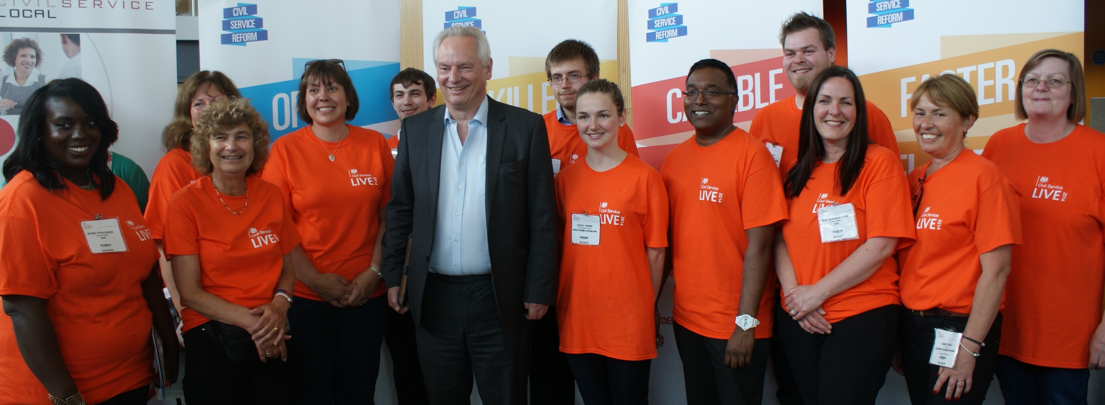 photo of Francis Maude with Bristol volunteers