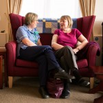 Patient/Nurse conversation at Hospice