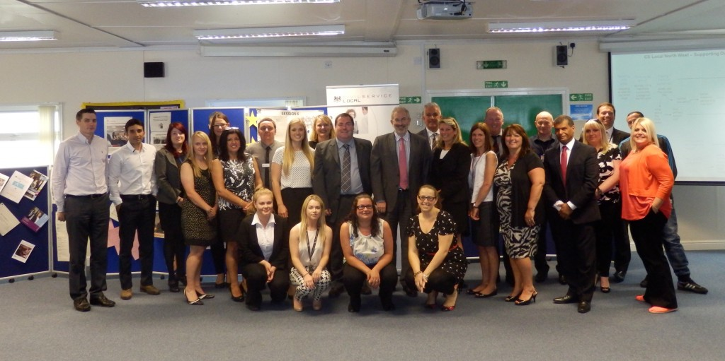 Sir Bob Kerslake with the north west team