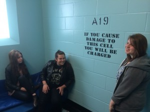 Students visit the Bridewell custody suite