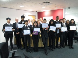 Derby Moor College students receive their certificates