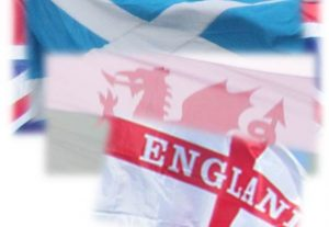 English, Welsh and Scottish flags