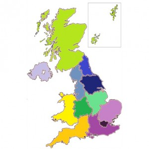 Regions coloured