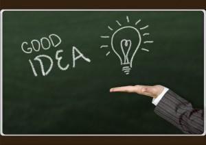 Godd idea light bulb