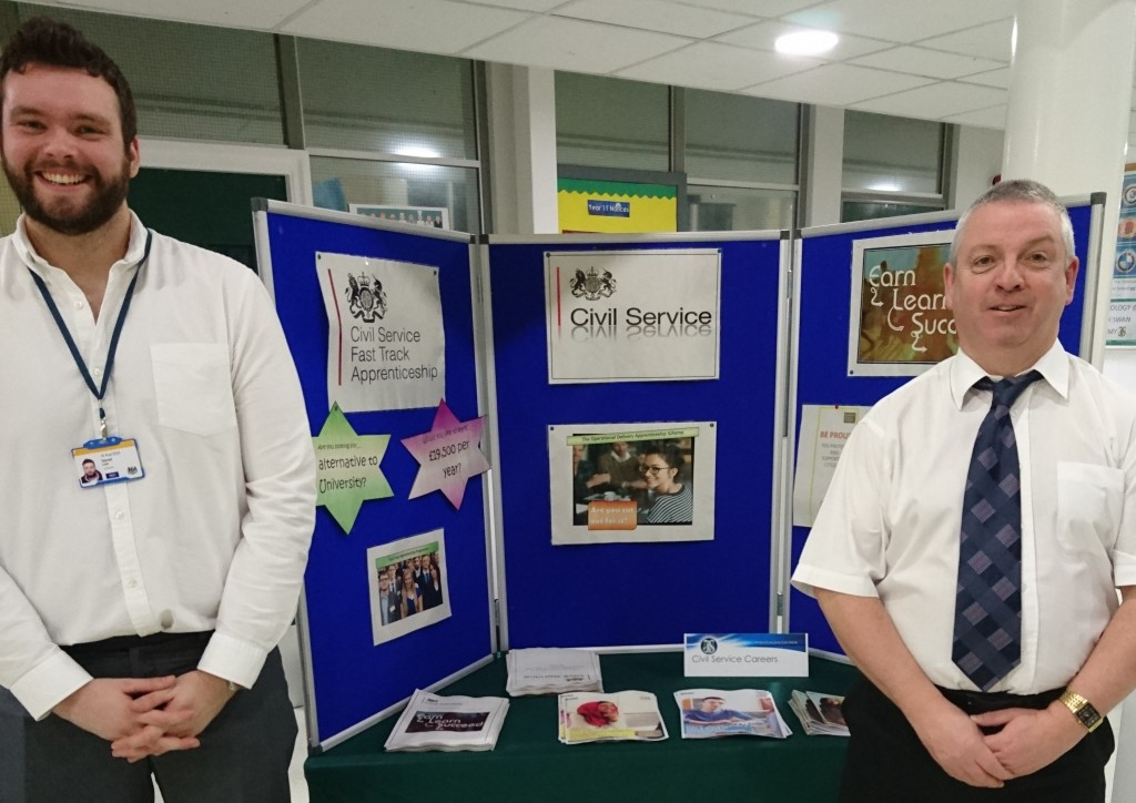 L-R - Daniel Lee (Civil Service Apprentice and Chris Flynn (HM Revenue and Customs)