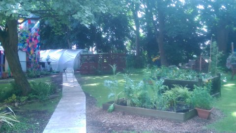 Age UK garden Wythenshawe