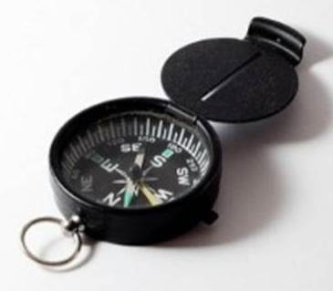 Compass to illustrate the idea of discovery