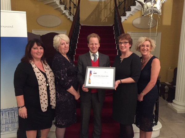 Kathie, Susan, Leo and Nita with the Rt Hon. Ben Gummer, MP, Minister for the Cabinet Office and Paymaster General