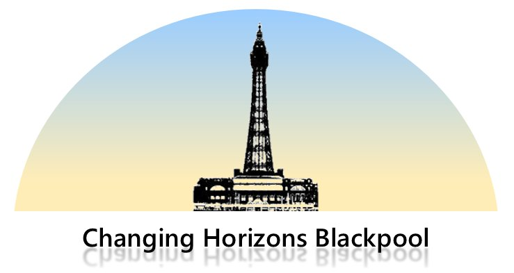 Logo of Changing Horizons Blackpool featuring Blackpool Tower