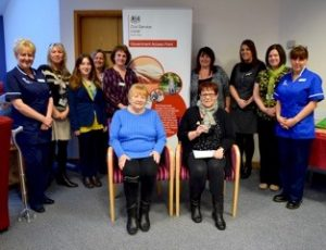 Hospice staff and patients