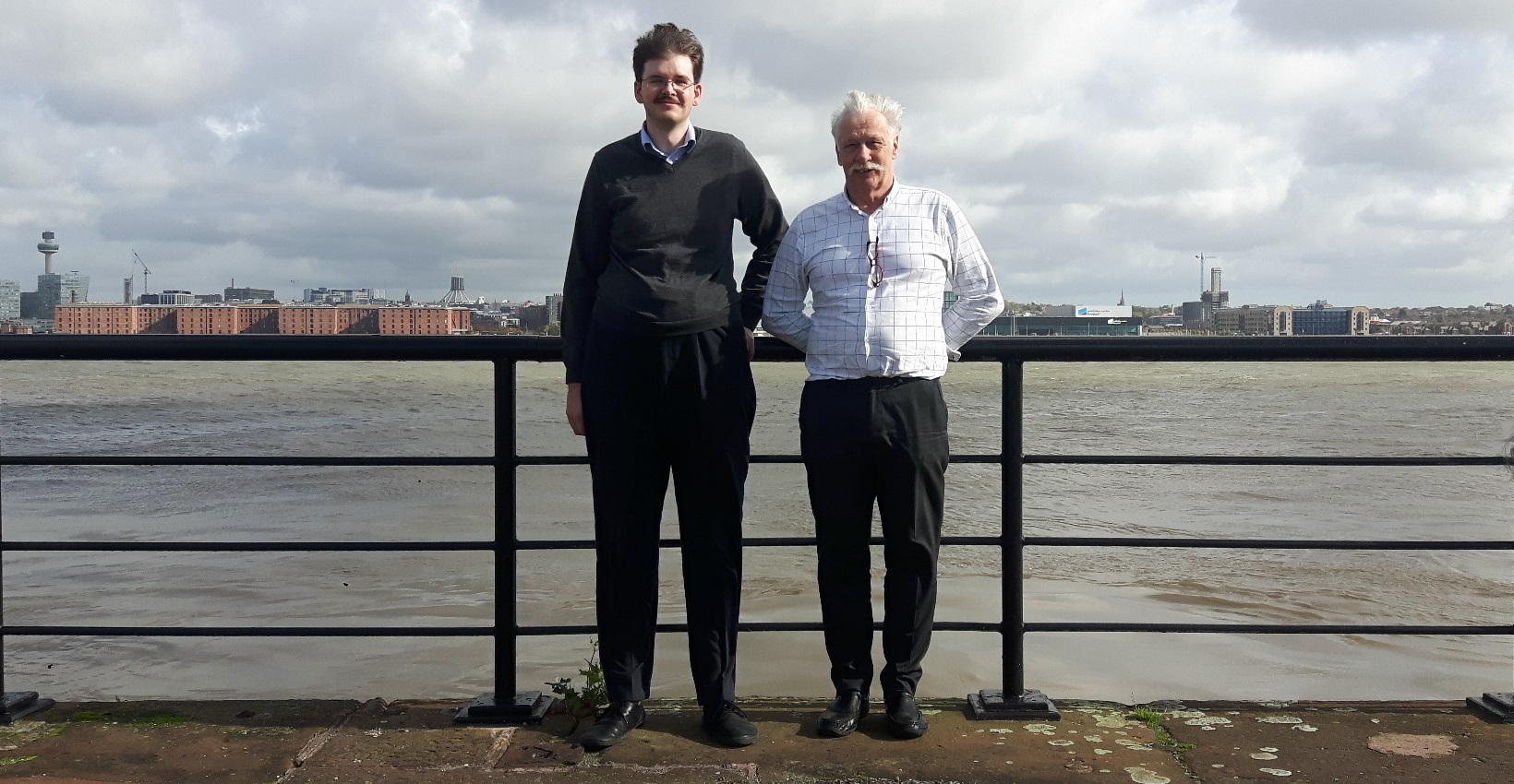 HMRC's Owen with Rick from Autism Together