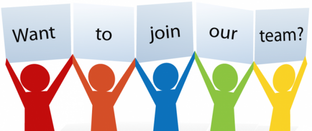 sign saying want to join our team