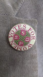 Badge with wording 'Votes for women'