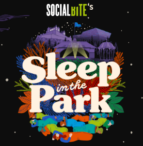 Social Bites Sleep in the park poster
