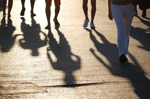 people shadows
