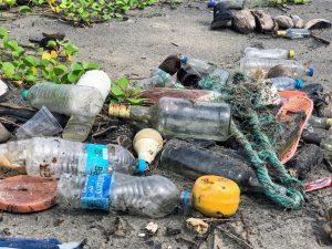 rubbish on a beach