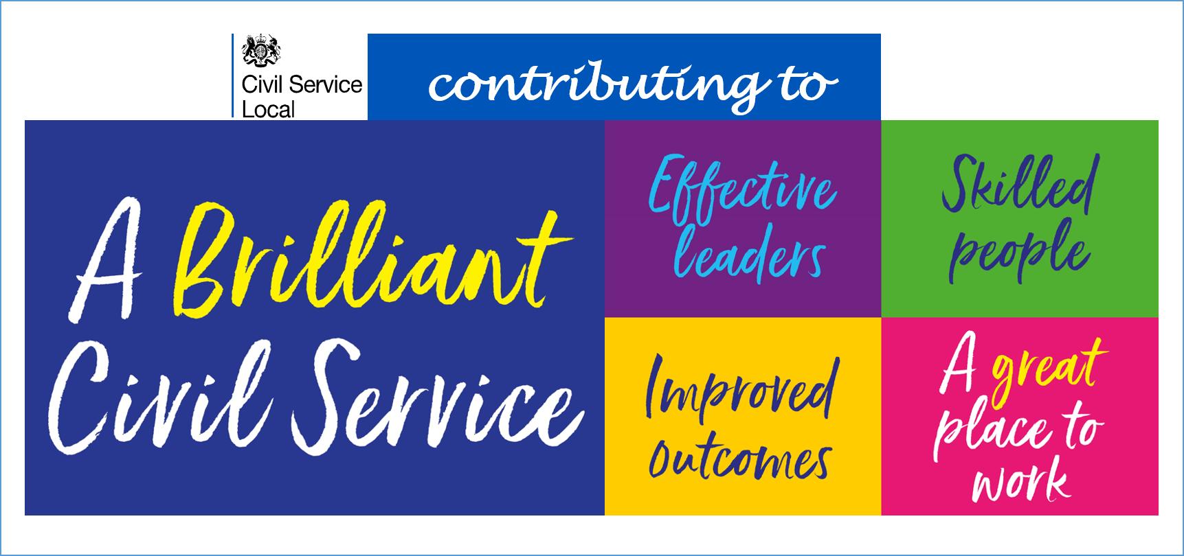 A text banner showing 'A Brilliant Civil Service...