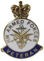Veteran armed forces badge