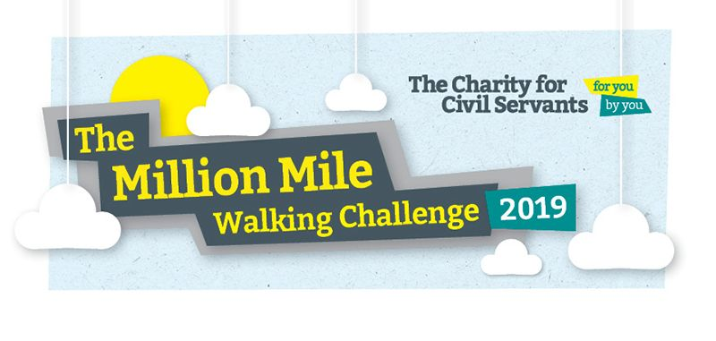 Charity for civil servants 1019 walking challenge banner