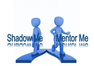 2 3D men between words shadow me and mentor me