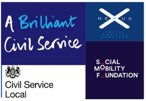 Banners from a brilliant Civil Service, CS Local, Nexus and Social Mobility Foundation