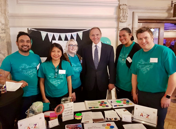 Team Chaffinch with John Manzoni