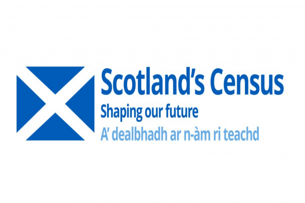 advertising Scotland's 2021 census in english and gaelic