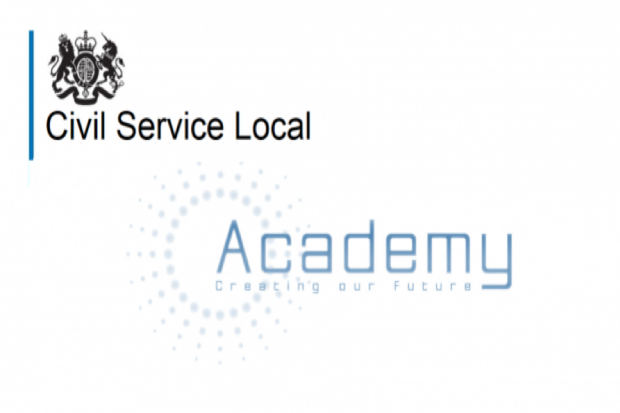 Civil Service Local and crest with the words creating our future below the word academy