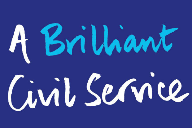 blue background with the words A Brilliant civil service