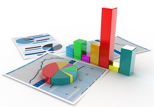 Bar chart, pie chart and various pages of charts for analysis/statistics.