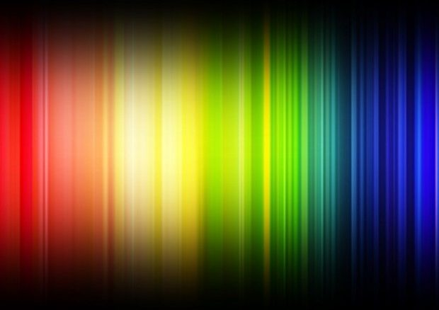 Rainbow coloured lines