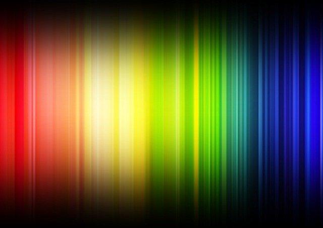 Rainbow coloured lines