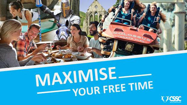 images of leisure activities with the words maximise your free time