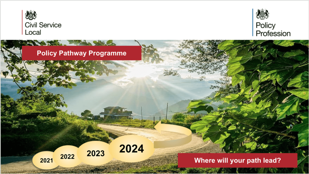 pathway image with the words policy pathway programme