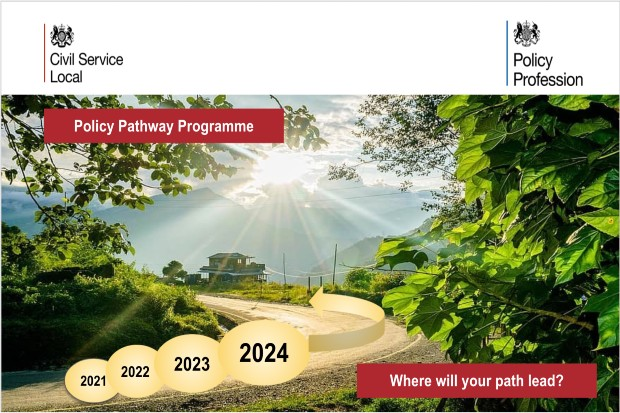 showing a pathway through 2021 to 2024 asking the question where will your path lead
